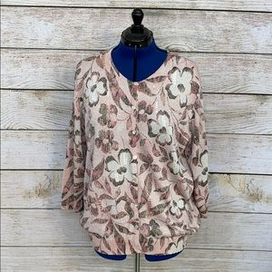 Alfred Dunner Button Up Sweater w/Shimmer, Size 3X